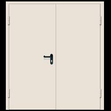 Дверь металлическая техническая нестандартная двухстворчатая