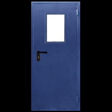 Дверь металлическая техническая с остеклением стандартная