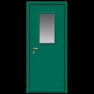 Дверь металлическая техническая с остеклением нестандартная